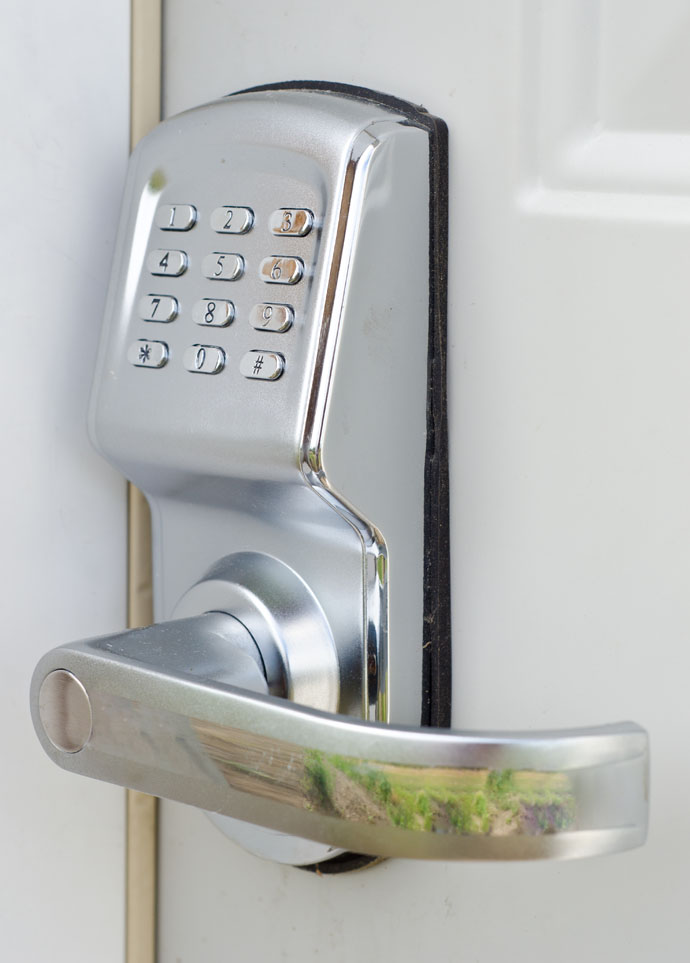 1. Security through automated door locks