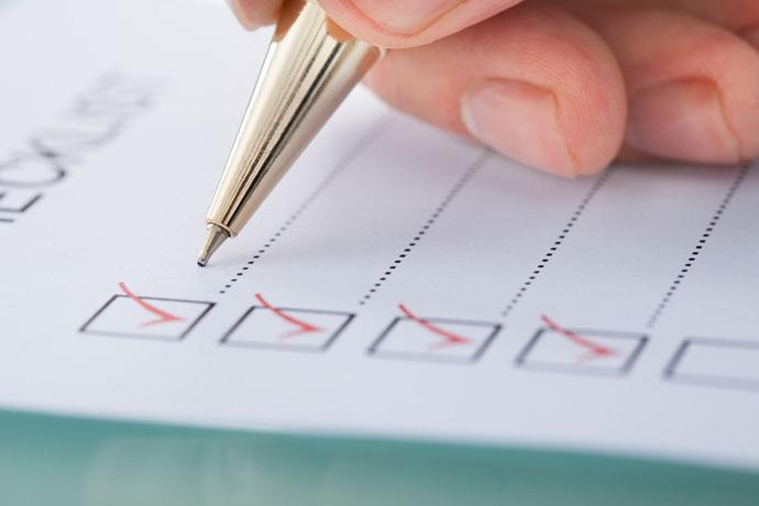 1.Prepare a checklist