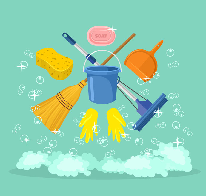 Cleaning vector png