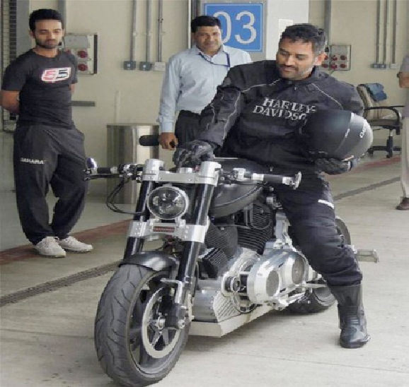 Mahendra Singh Dhoni - Motorcycle Enthusiast on his HellCat
