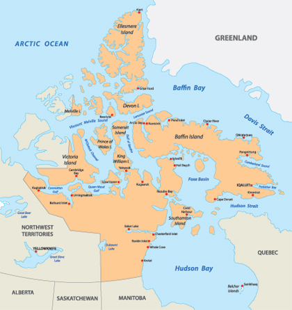 Baffin Island - the biggest island of Canada