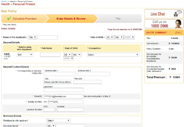 Online Insurance Icici Online Insurance Payment