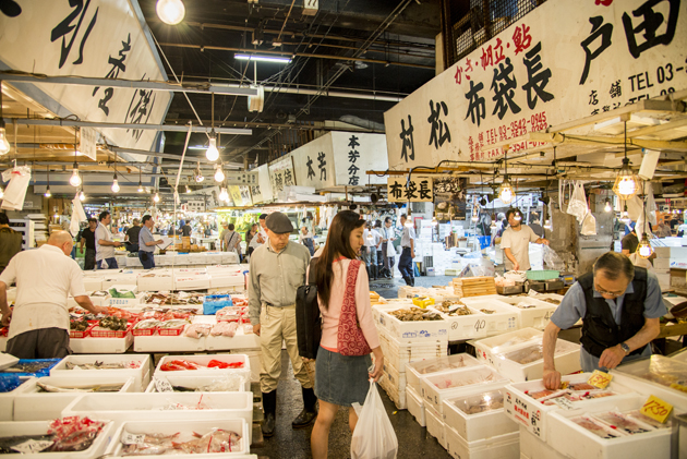 Tsukiji fish market – The world's largest fish market