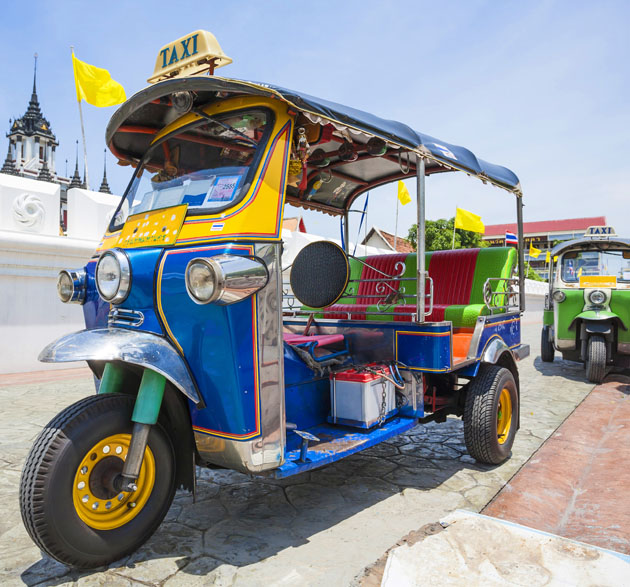 Do not miss to take a ride in tuk tuk