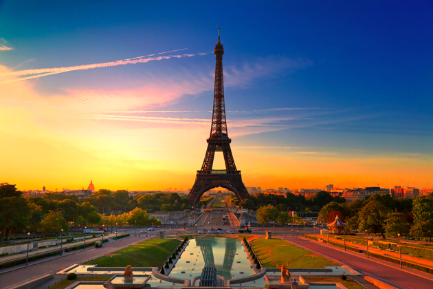 Eiffel Tower, situated in the heart of Paris