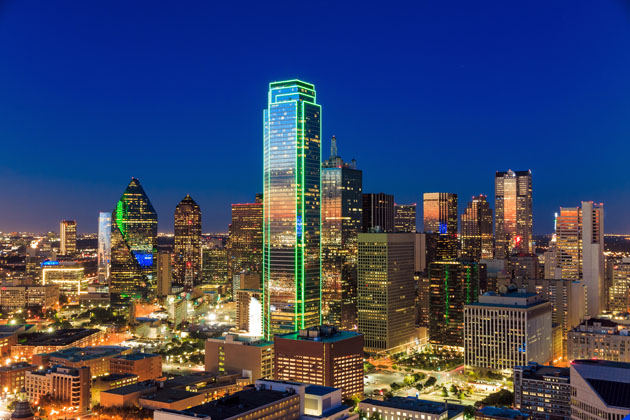 The dazzling Dallas skyline
