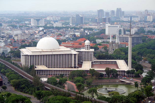 The national mosque, Istiqlal (Arabic for independence) Mosque