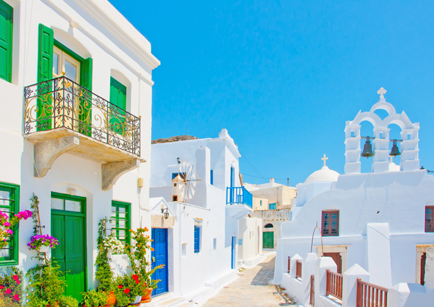 Traditional houses in Greece