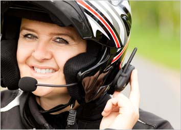 Helmet with a hands-free phone