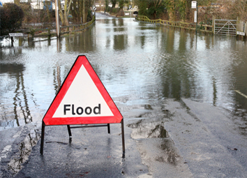 Identify safe places get out of flooded regions