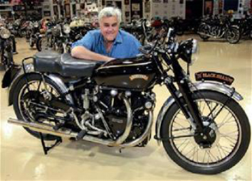 Jay Leno with the Brough Superior