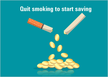 Quit smoking to start saving