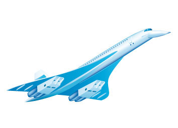 The Concorde was one of the two supersonic commercial passenger jets