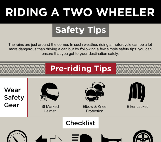 Riding A Two Wheeler: Safety Tips
