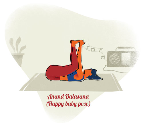 Anand Balasana (Happy baby pose)