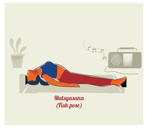 Matsyasana (Fish pose)