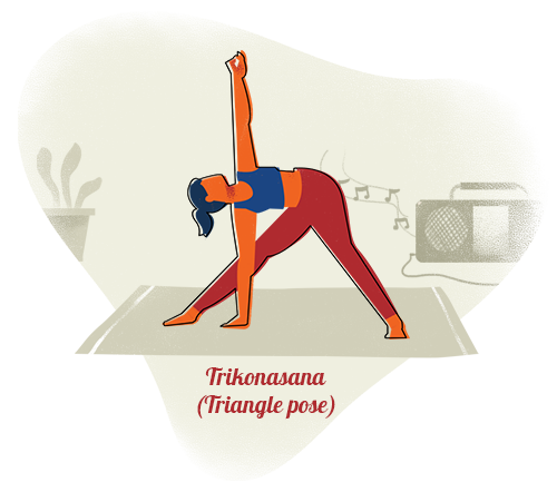 Trikonasana (Triangle pose)