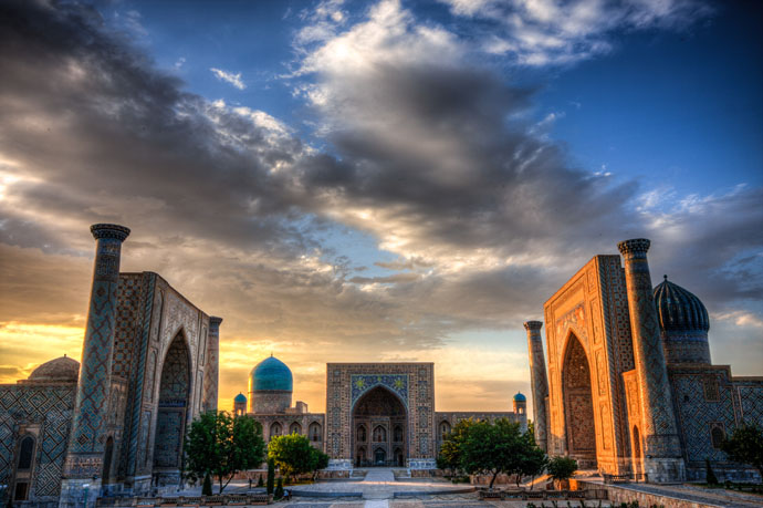 Samarkand was built as early as in 7thcentury BC