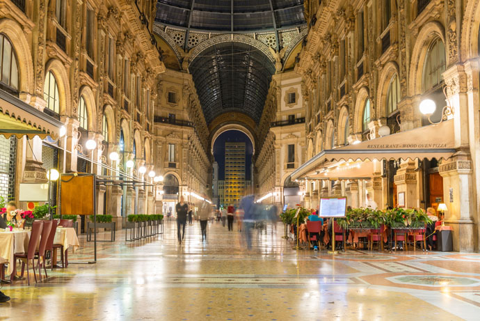 Experience a luxurious shopping experience in Milan