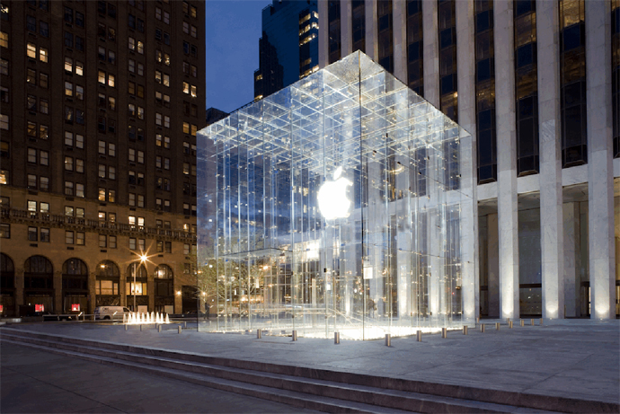 The Apple Store in New York displays the brand's phones, tablets and more