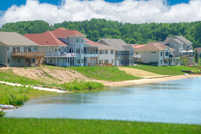 A lakeside view for retirement homes