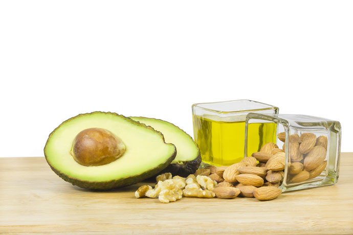 Avocados and nuts have fats that are good for you