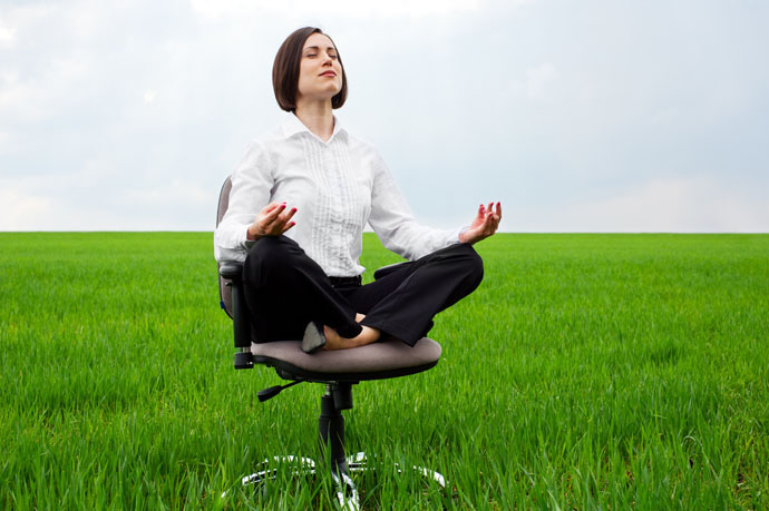 Meditation helps you to de-stress